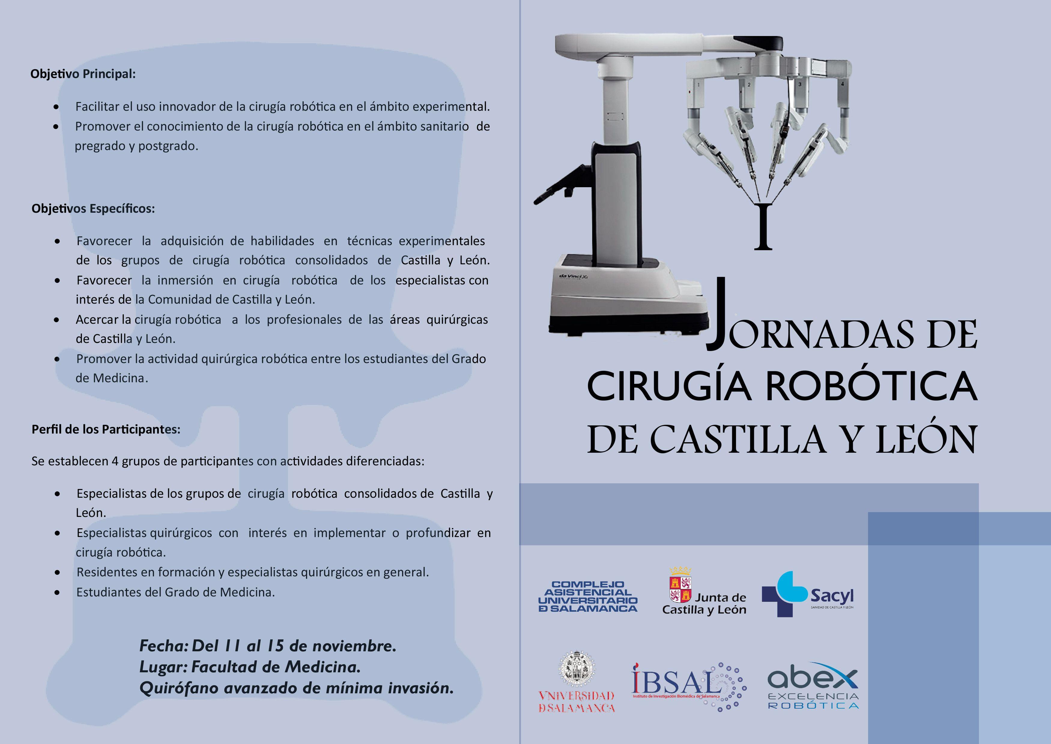 Programa I Jornadas de Cirugu00eda Robu00f3tica de CyL 1