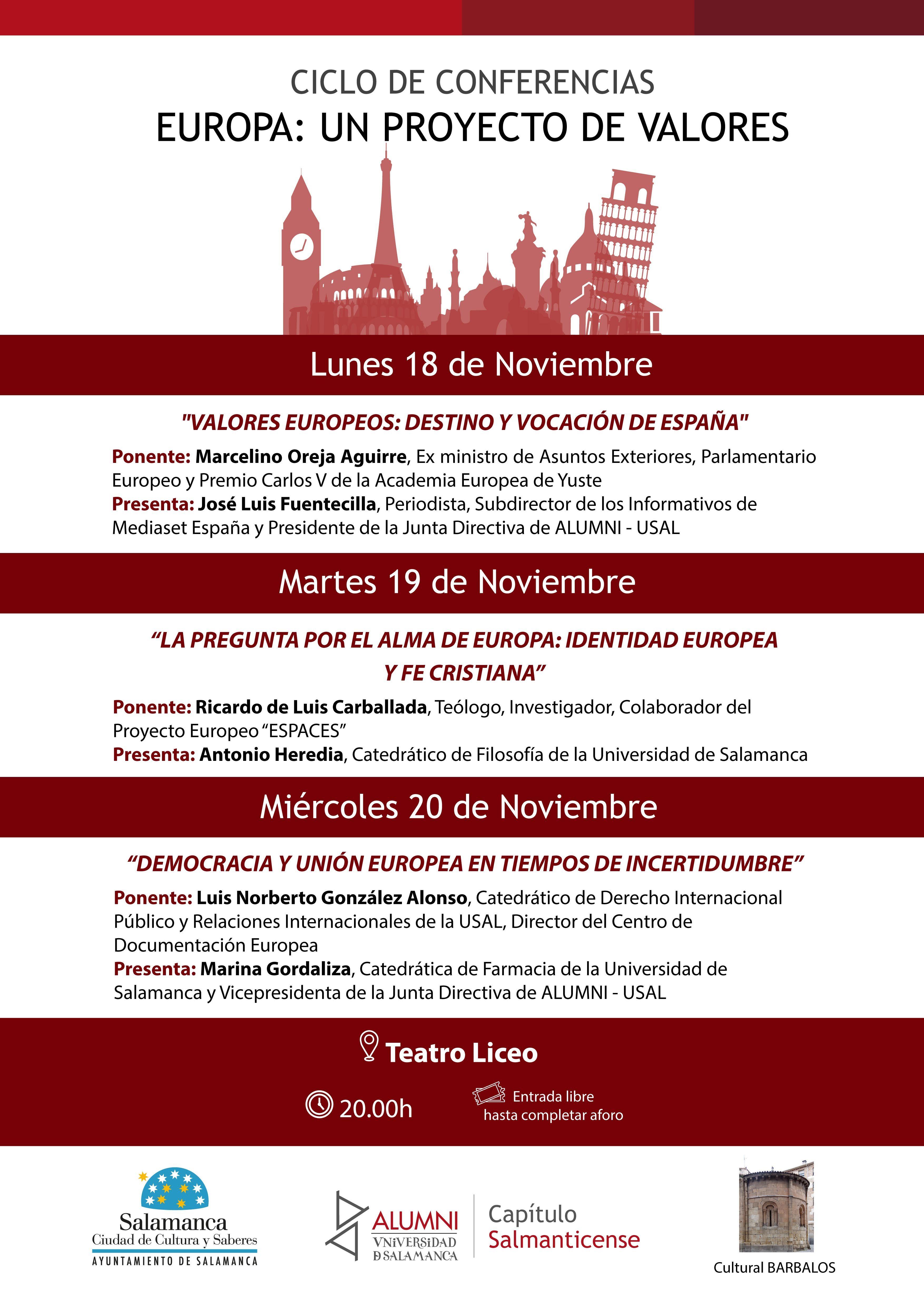 Cartel ciclo conferencias alumni