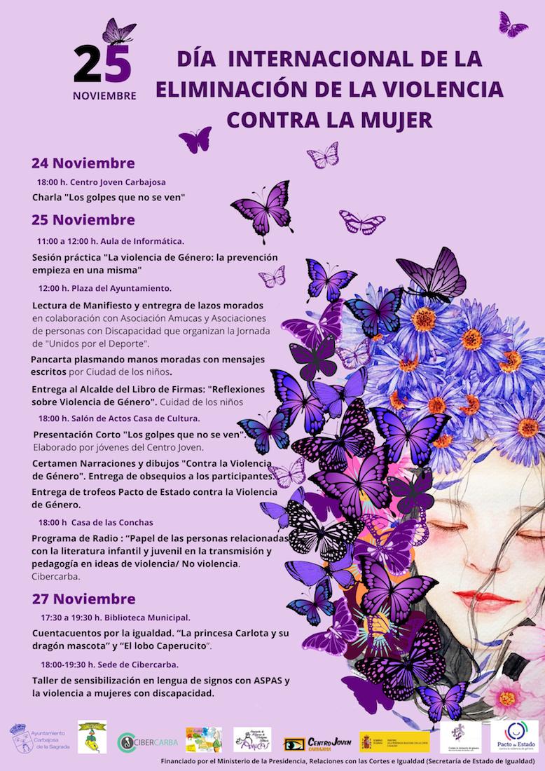 Cartel Diu0301a Internacional de la Eliminaciou0301n de la Violencia Contra la Mujer