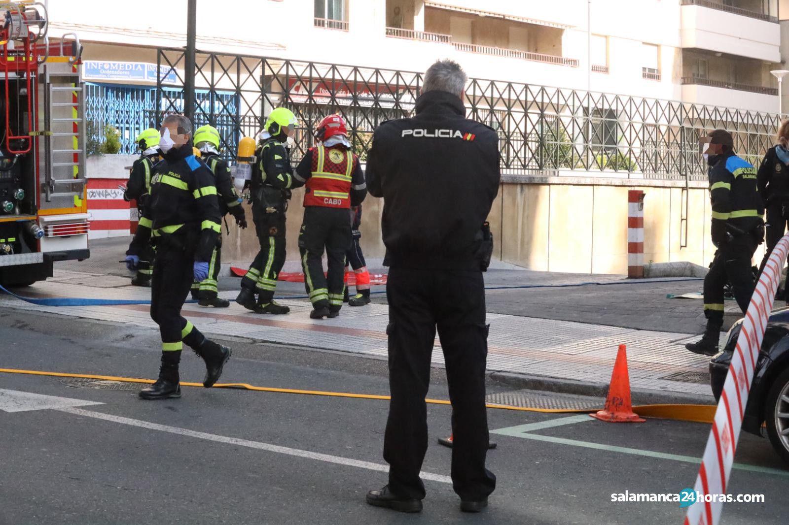 Incendio garaje avenida de italia (4)