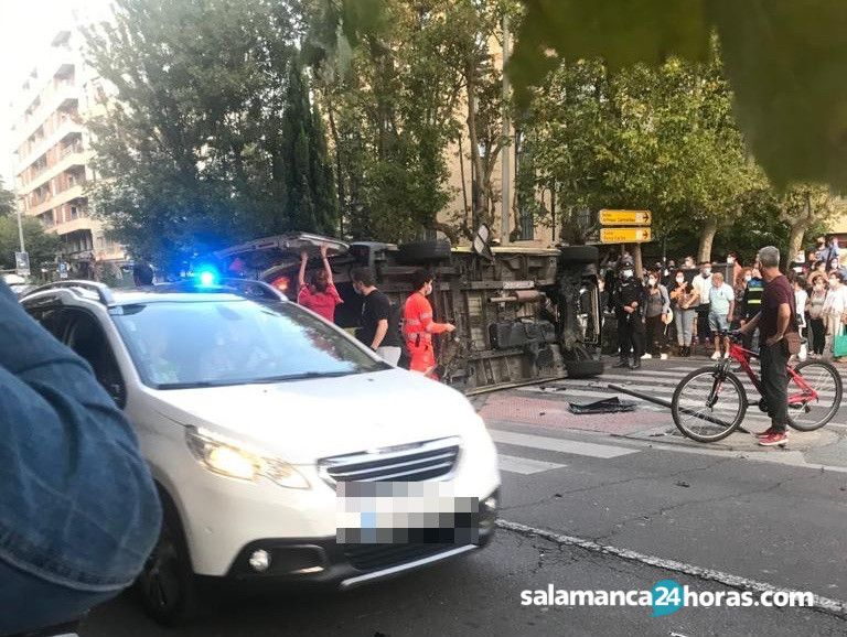 Accidente ambulancia en Carmelitas