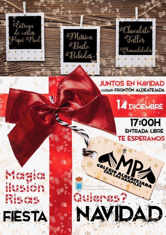 FIESTA NAVIDAD 2019 AMPA COLEGIO ALDEATEJADA CRA LOS ARAPILES