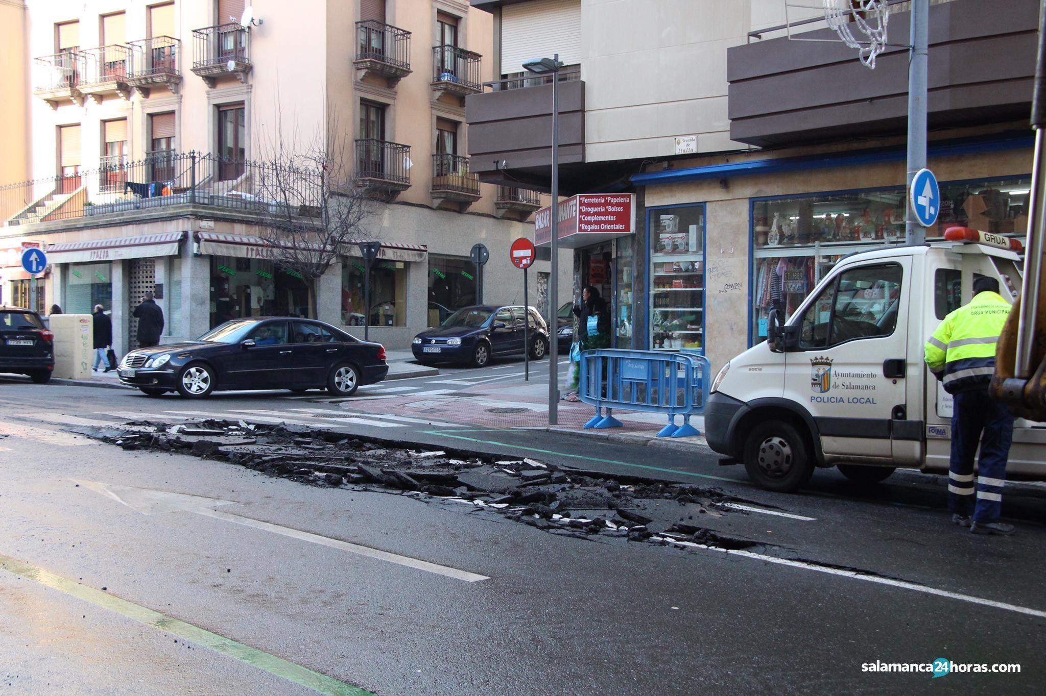Reventón avenida de italia 2