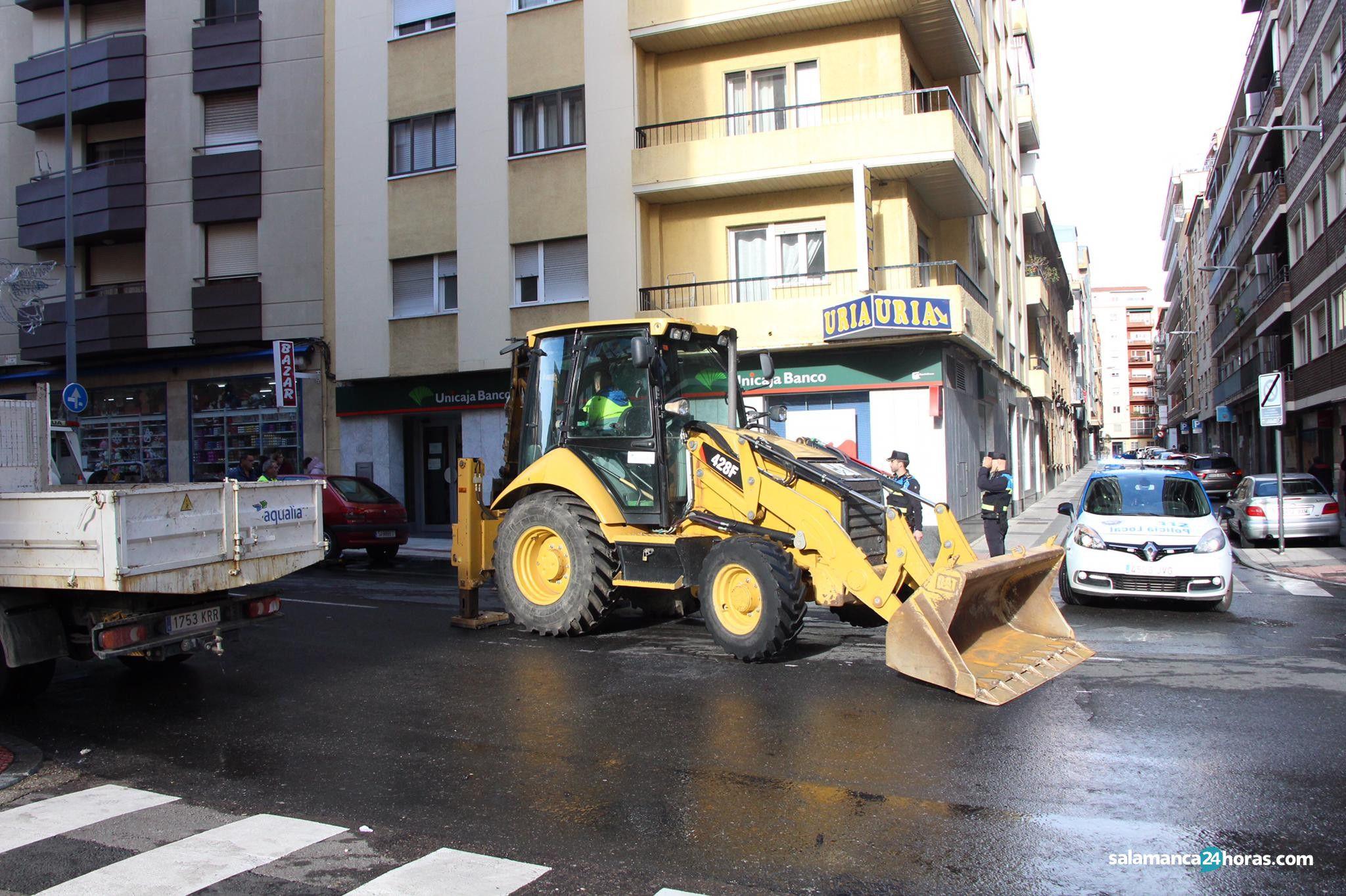 Asfaltado avenida de italia