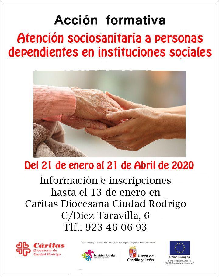 ACCION FORMATIVA ATENCION SOCIOSANITARIA 2020
