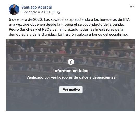 Informacion falsa abascal