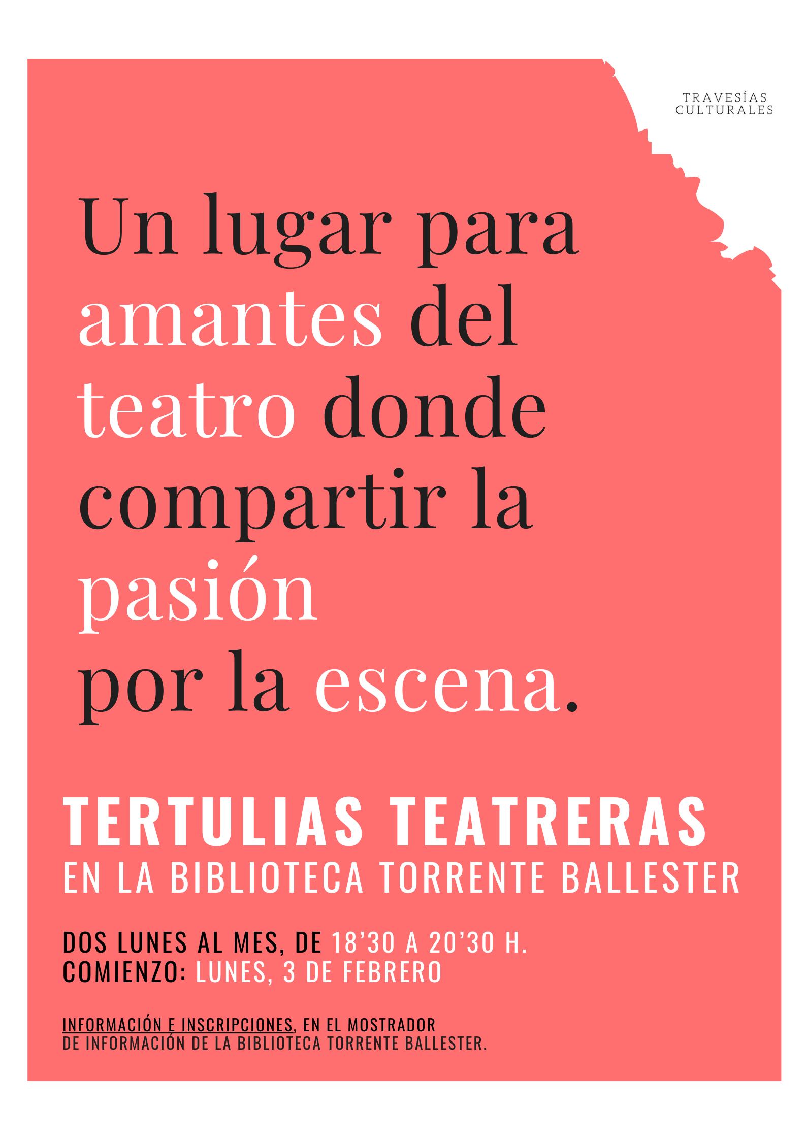 TERTULIAS TEATRERAS