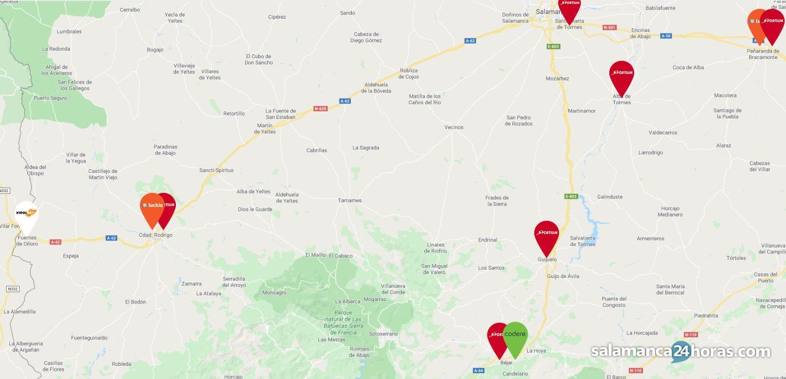 mapa de casas de apuestas en la provincia
