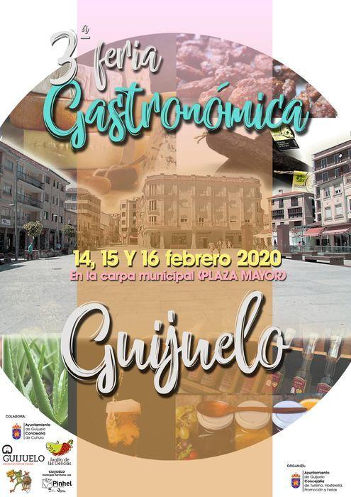 CARTEL III FERIA GASTRONOMICA GUIJUELO 2020
