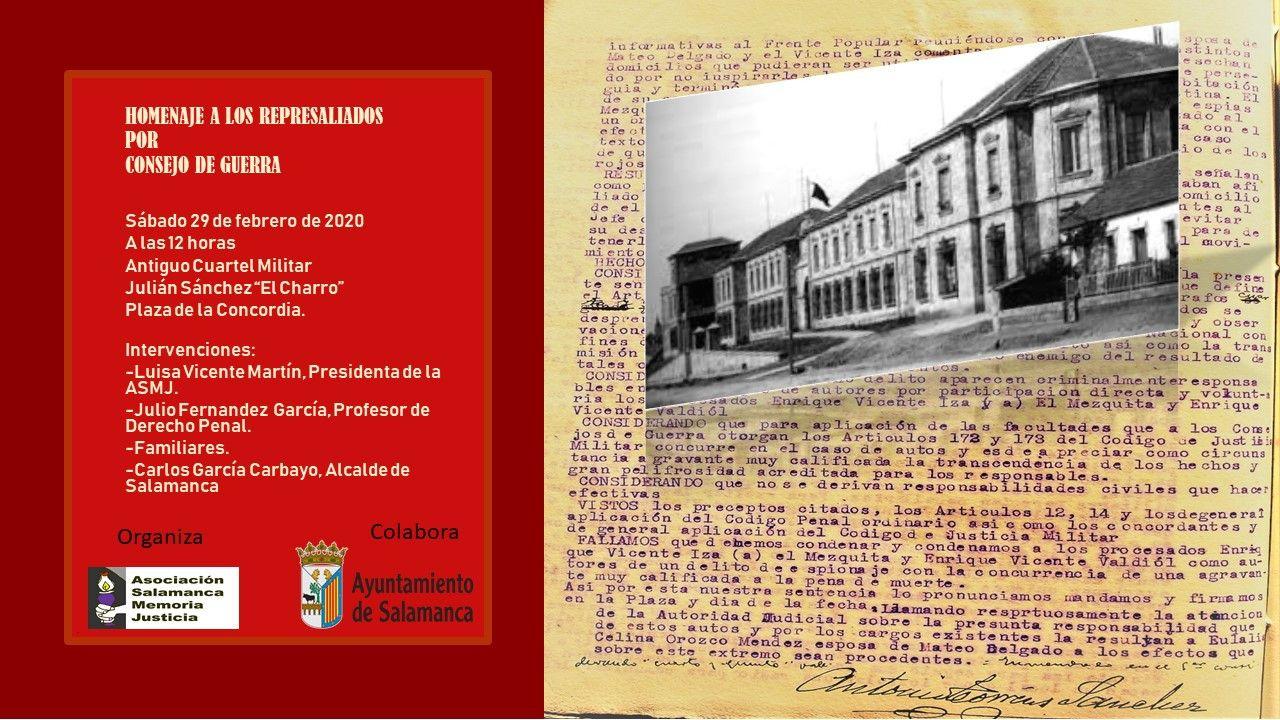Cartel homenaje Cuartel Julian Sau0301nchez El Charro jpg