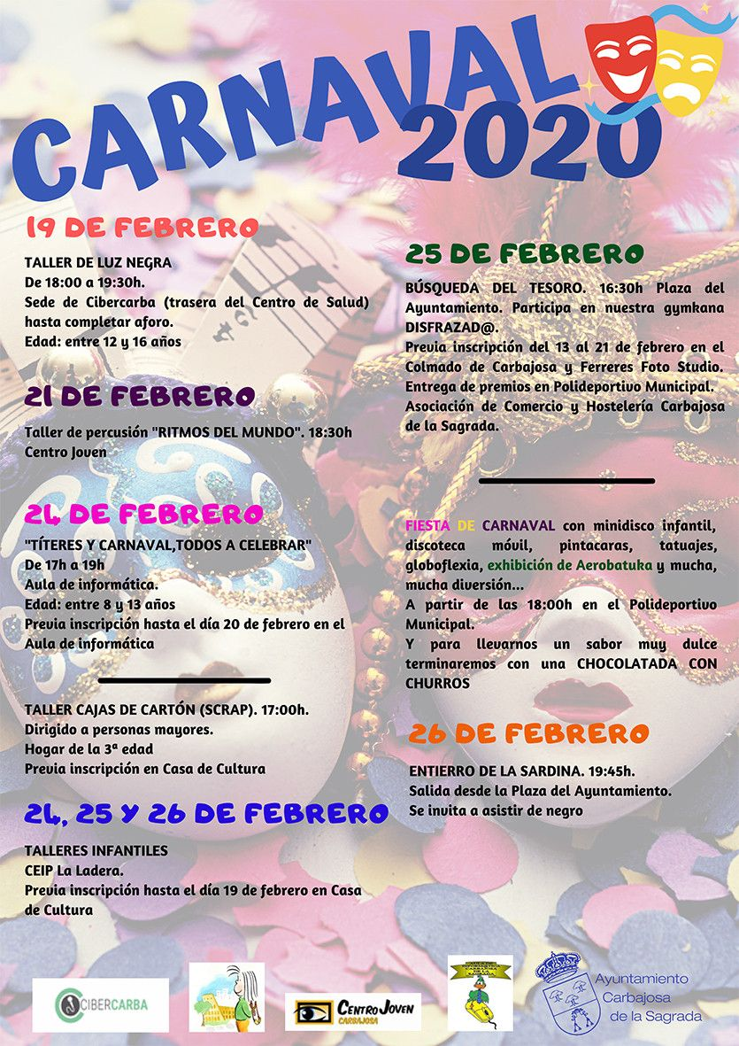 Proprama Carnaval 2020