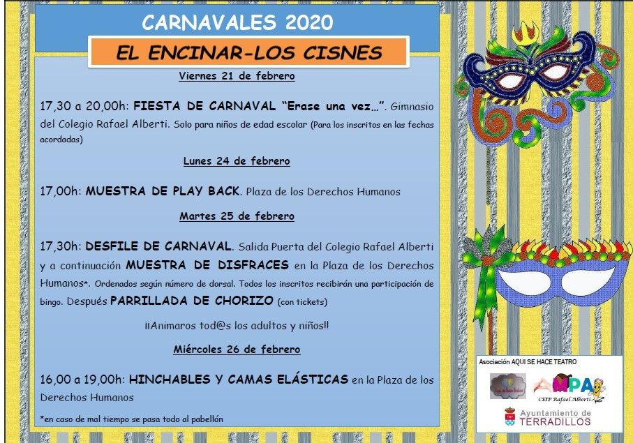 Cartel general carnavales