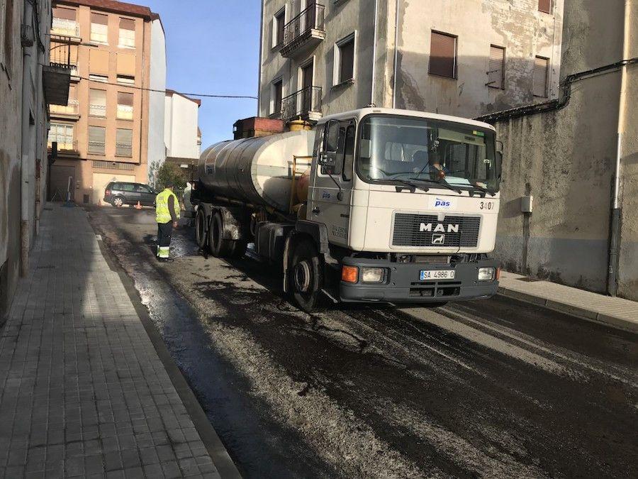 Asfaltado de la calle Zafiro