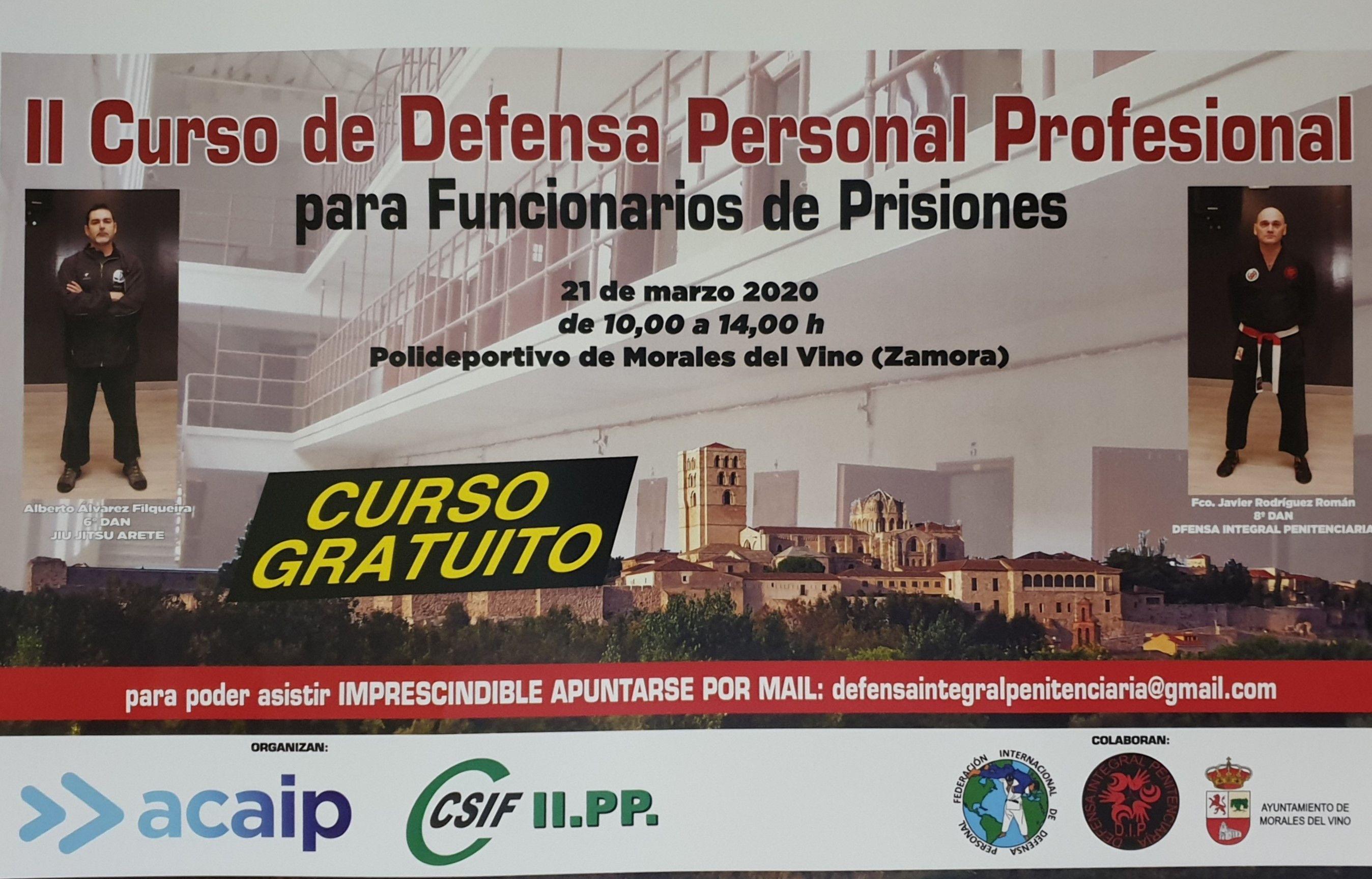 Cartel defensa personal