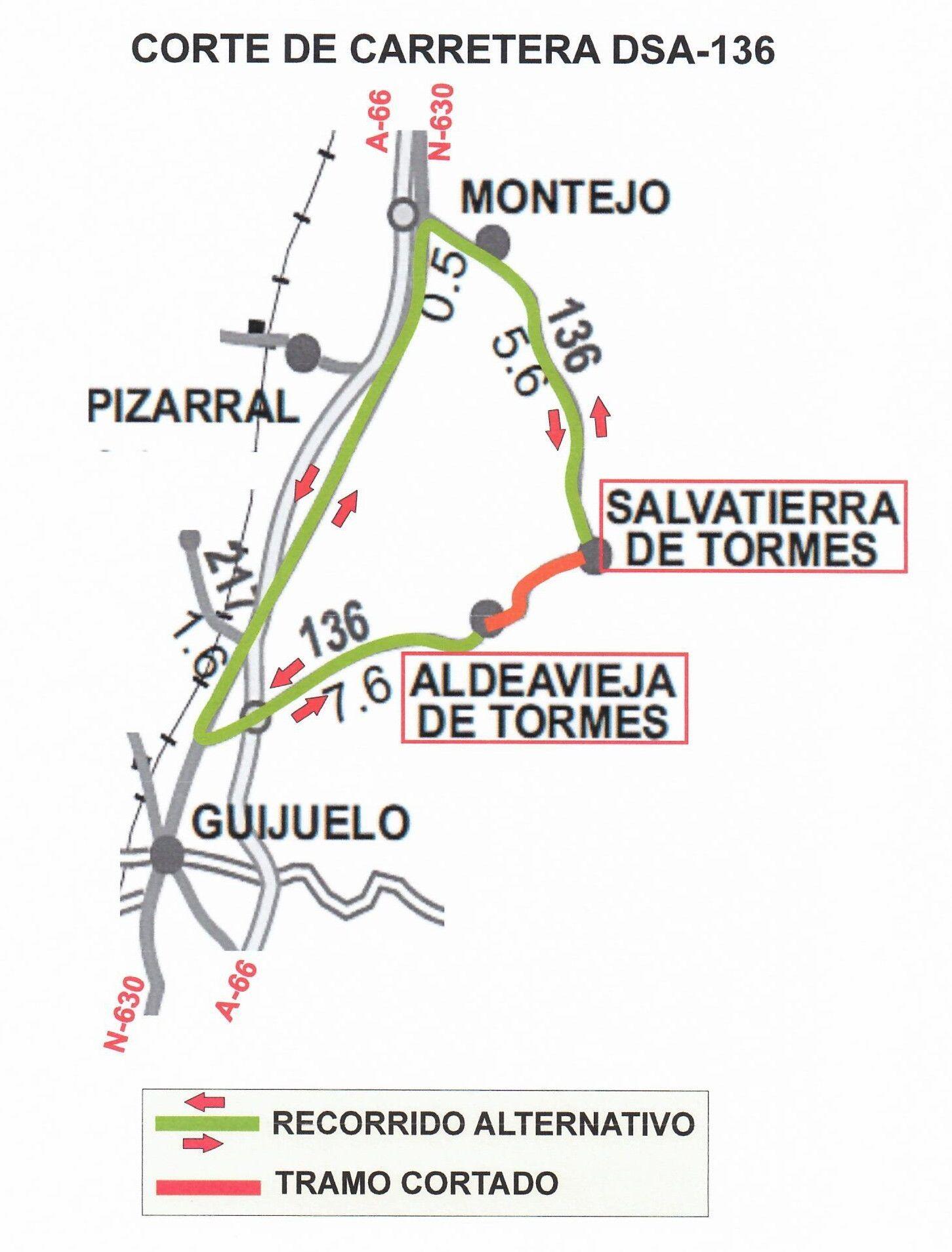 Plano corte Ctra. DSA 136