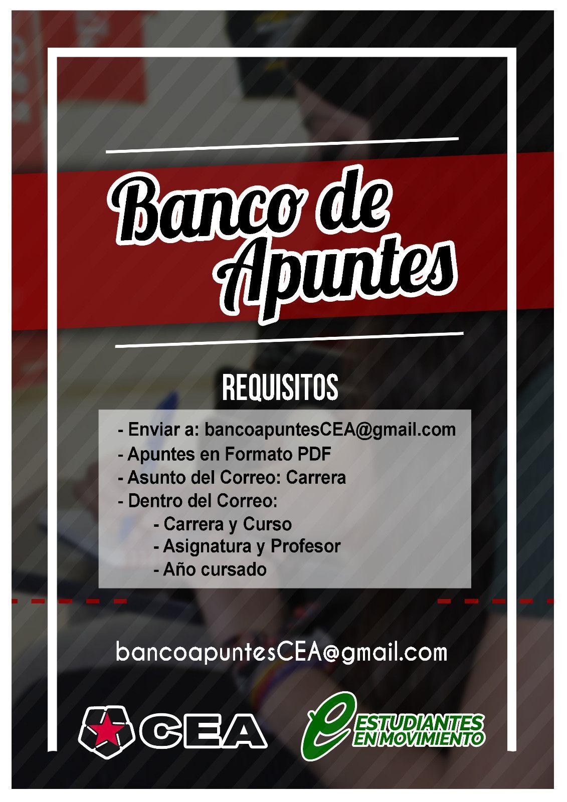 Requisitos banco de apuntes