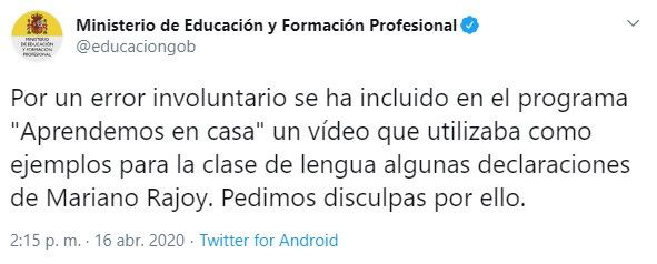 Twitter Rajoy