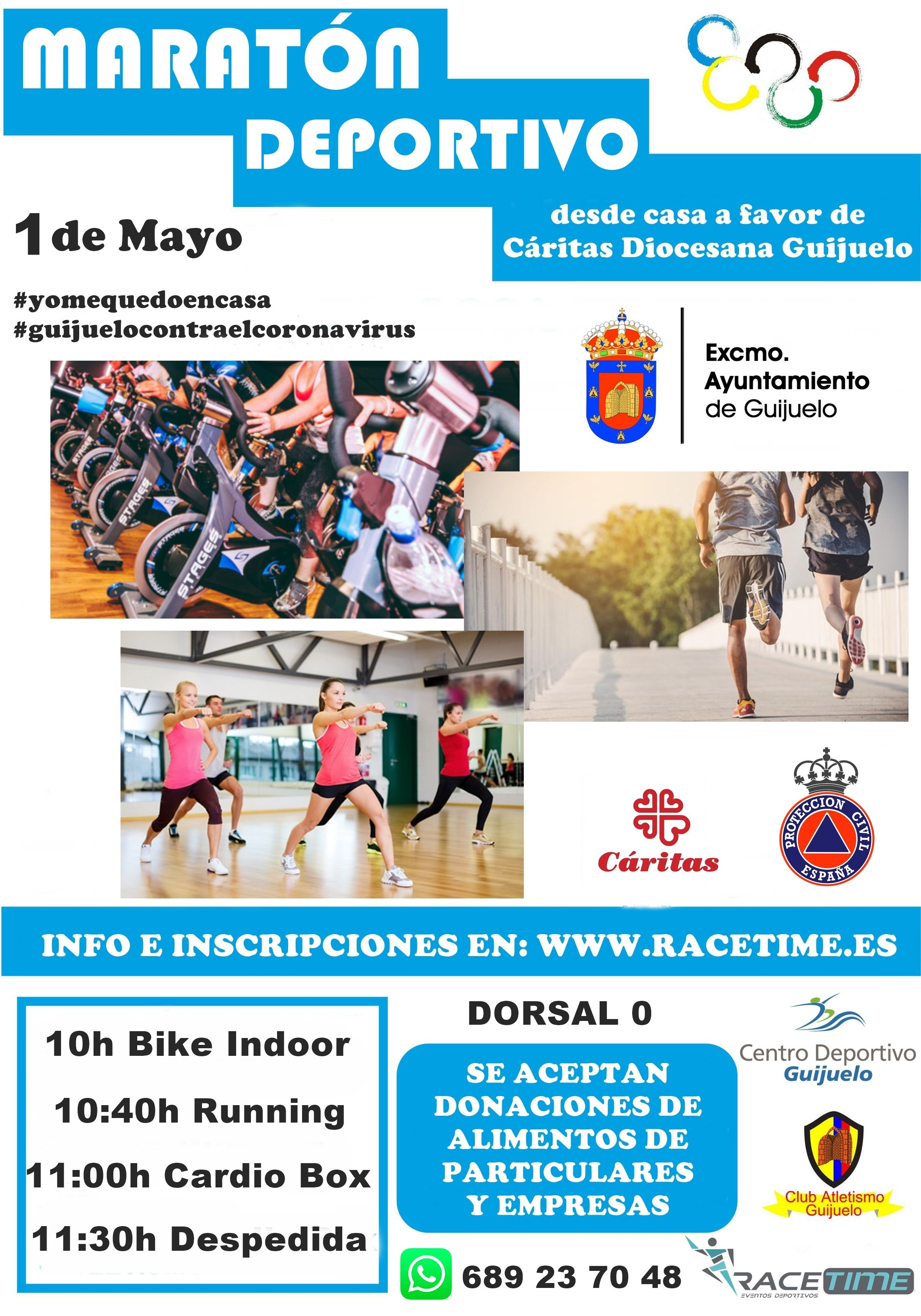 Maraton Deportivo Solidario en Guijuelo 1 mayo