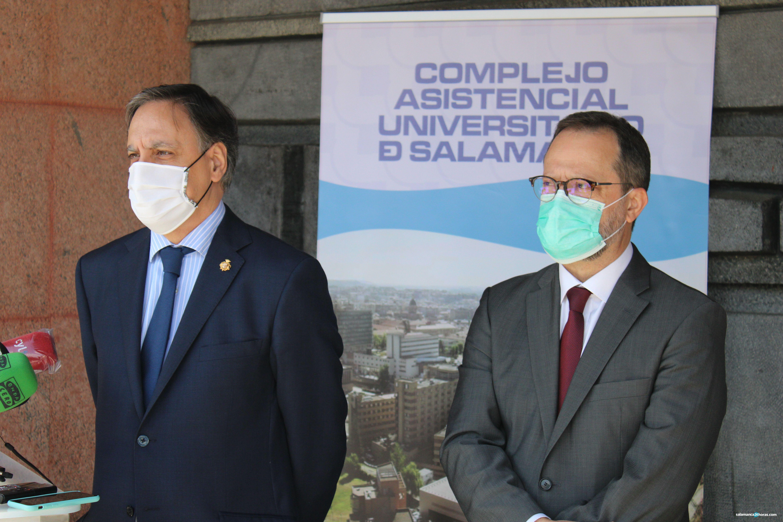 Alcalde gerente Carlos García Carbayo y Luis Ángel González