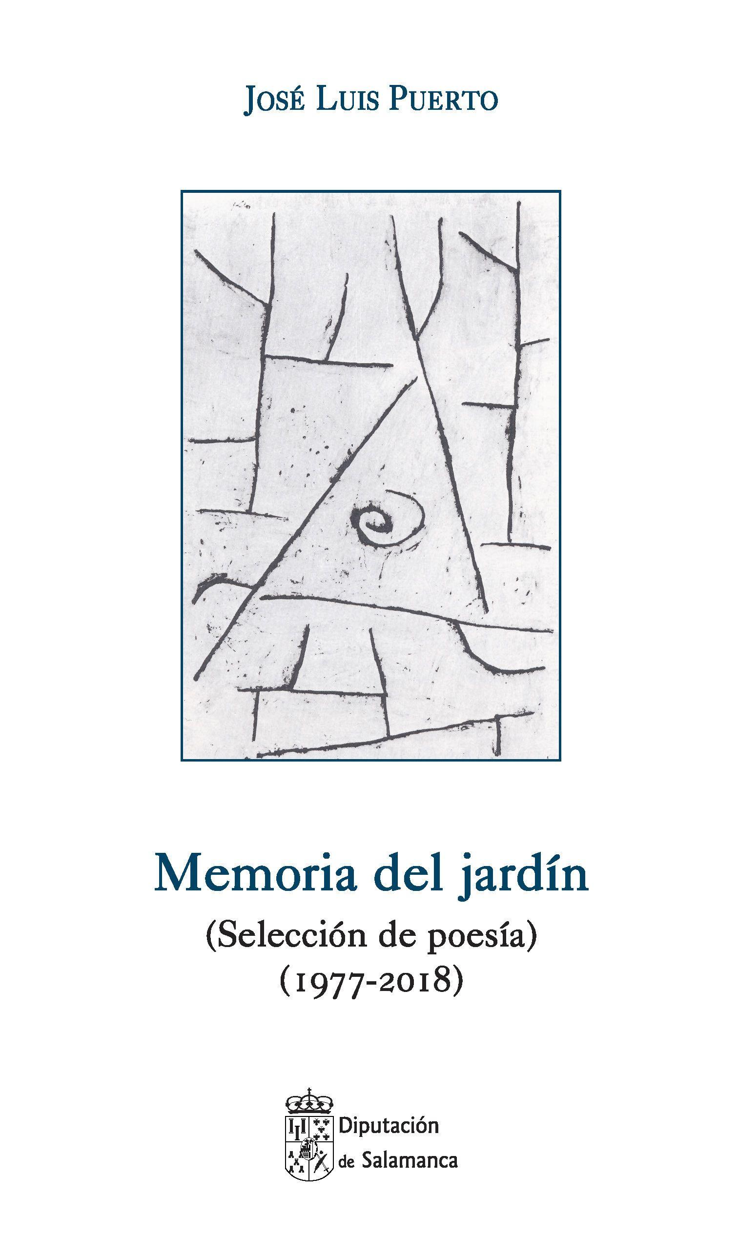 Cubierta Libro Memoria del Jardín. JL Puerto