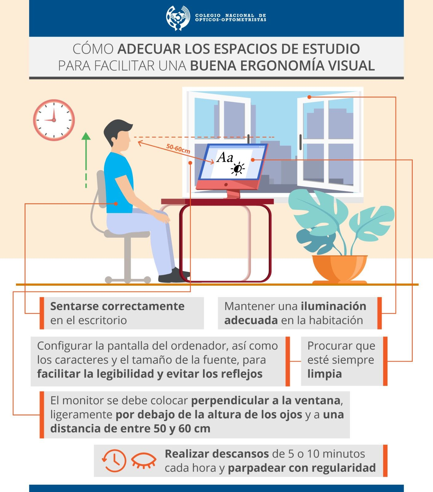 Consejos para adecuar los espacios de estudio y facilitar la ergonomía visual