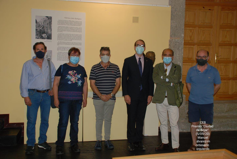 Marcos Sala y miembros del Centro en el Valeriano Salas