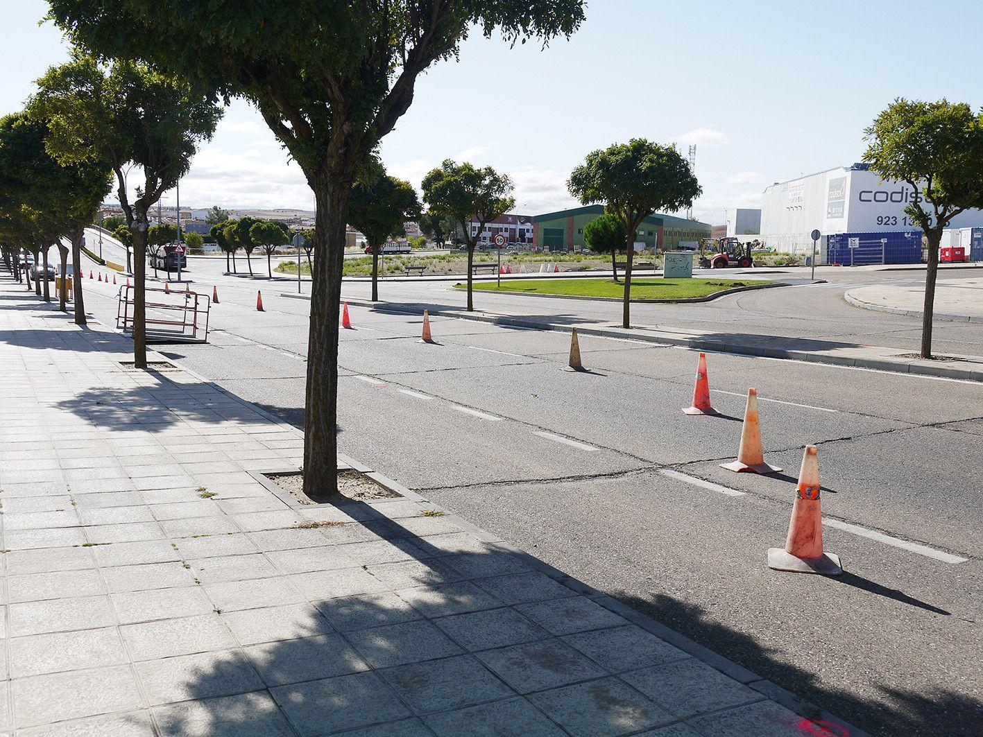 Inicio obras rotonda calle Salamanca 4