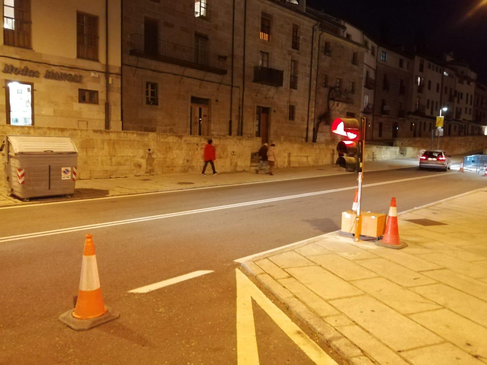 Obras en el paso de peatones de San Gregorio 2