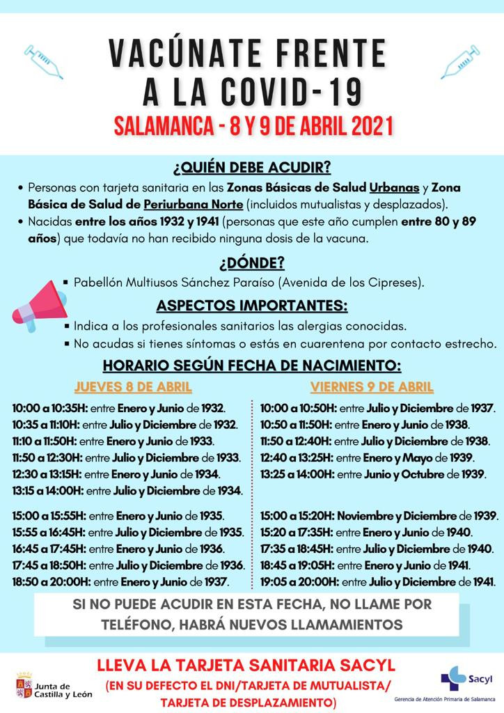 VACUNACIu00d3N FRENTE AL COVID 19 EN SALAMANCA