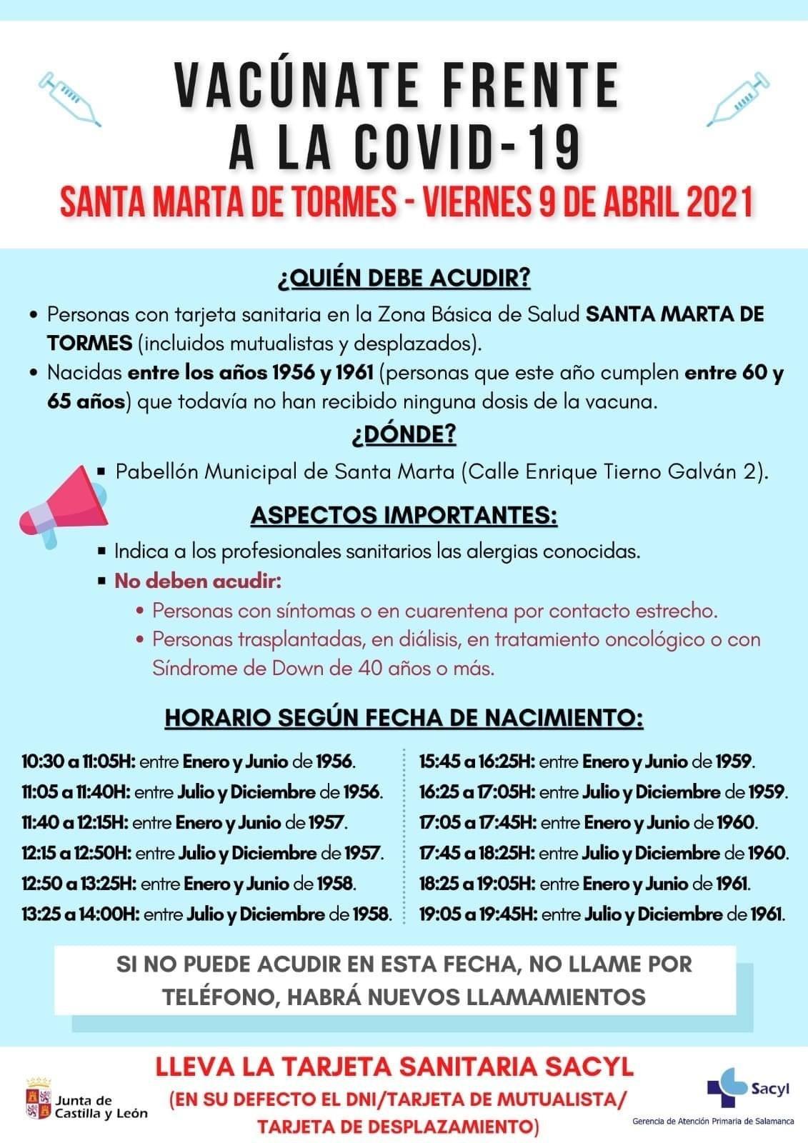 Santa Marta   Cartel vacunaciu00f3n 60 65 au00f1os