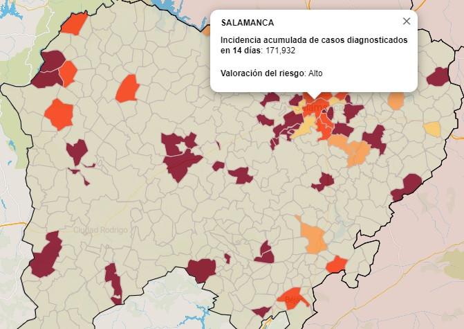 Mapa del coronavirus por municipios a 12 de abril de 2021