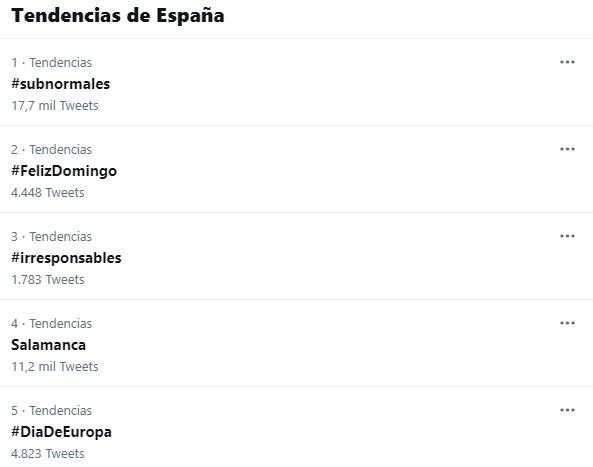 Tendencias en Twitter 9 de mayo, Salamanca