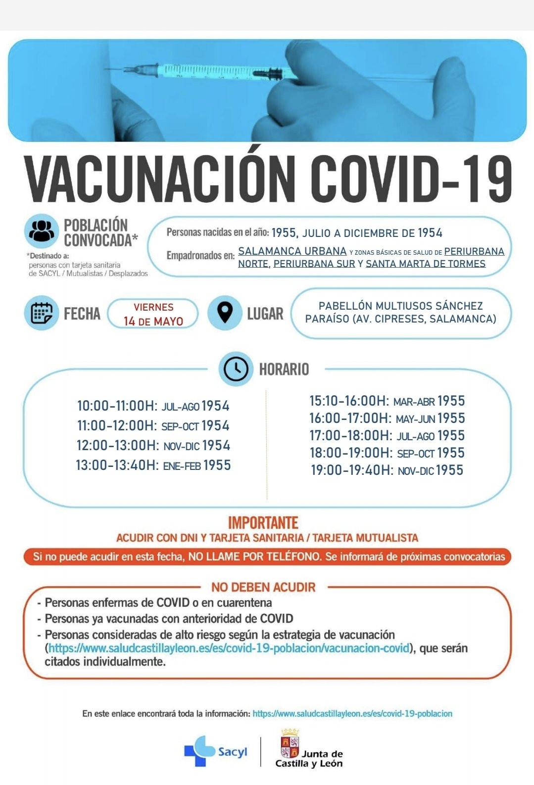 Vacunaciu00f3n 1955 y junio diciembre 1954