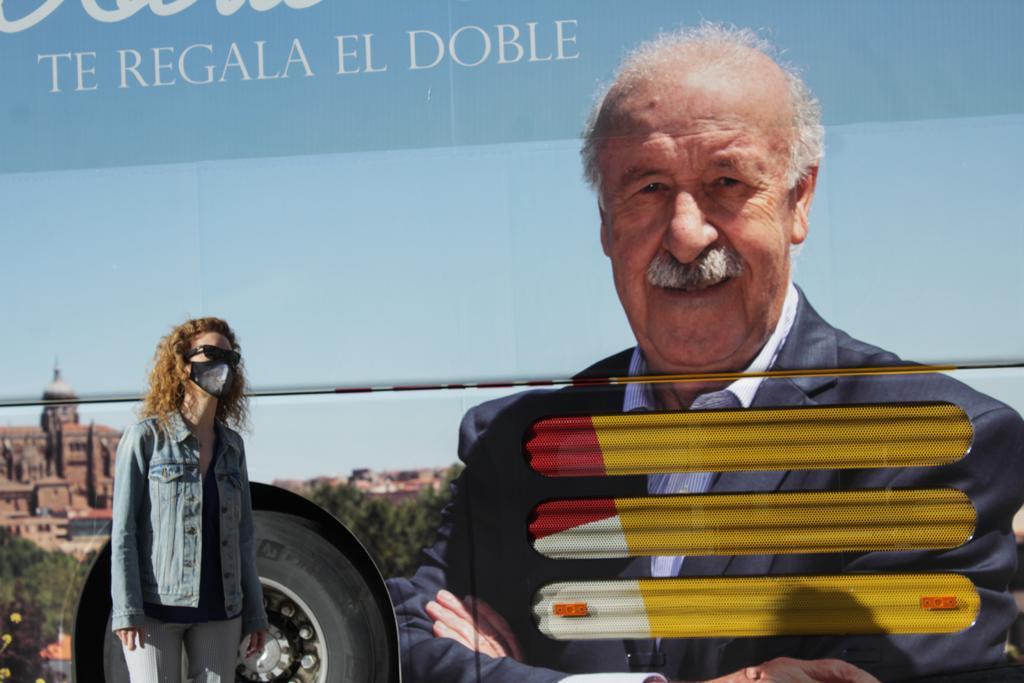 Autobuses promocionales de Salamanca en Madrid 1